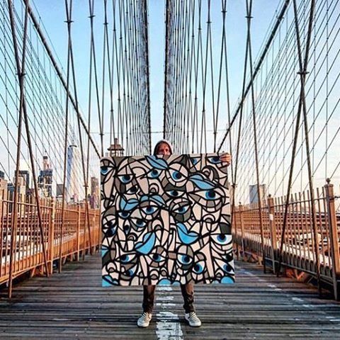 Did you know that our artist @_schoph_ makes art and drops it all over the dang place just for you? This one is in Brooklyn. Figure out where this picture was taken and go find it! #schophart #asymbol