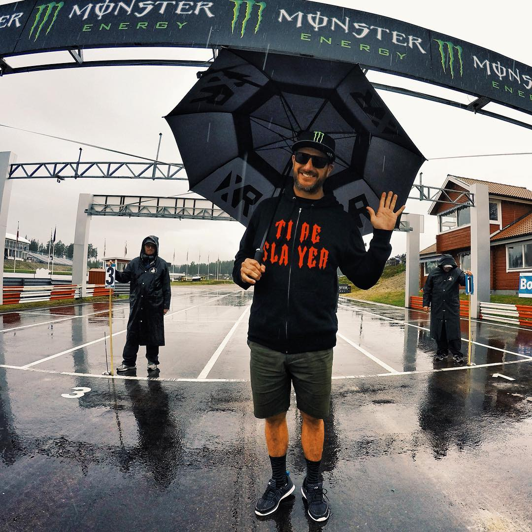 Hello from Höljes, Sweden! AKA one of the world's wildest rallycross races/parties. I've heard so much about how wild this place is, and how fun the track is. Stoked to start driving here today! Minus that rain, stuff… go away, rain stuff. Shot with a...