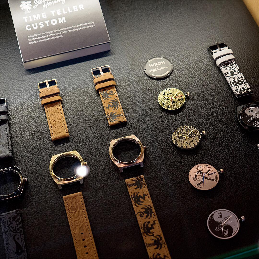 The sum of its parts. The all-new, limited-edition #Nixon x @s_harrington collection. See it firsthand at our Manhattan flagship store.