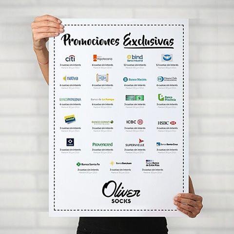 Conocé todas las promociones que tenemos y aprovechá el día para llevarte tu #OliverSocks en 3, 6 y hasta 12 cuotas sin interés, desde la comodidad de tu casa.  Ingresá ahora y elegí ponerle diseño a tus pies --->...