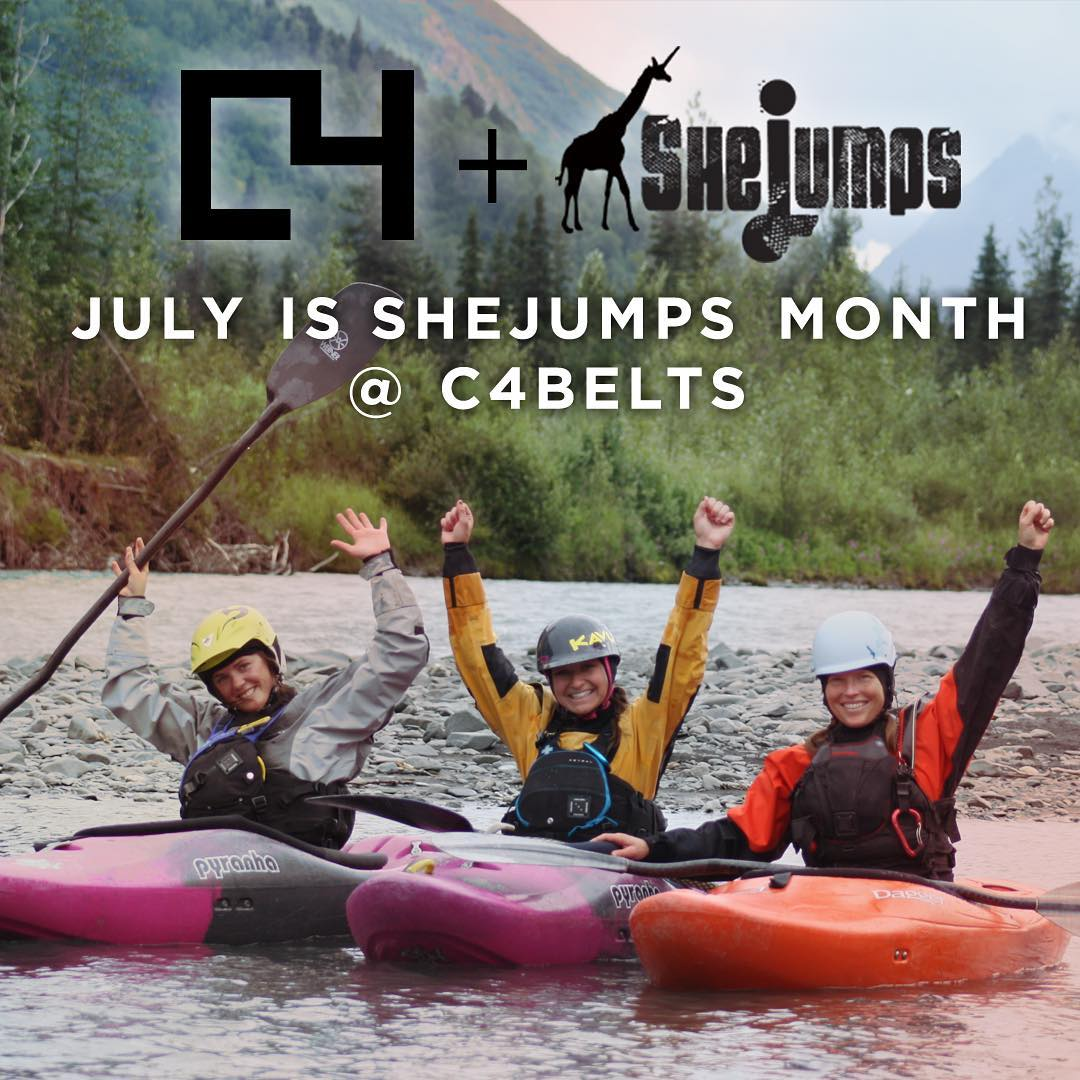 We're excited to announce a month-long fundraising campaign with @c4belts! With your help, C4 and SheJumps collaborated to make belts that you want. 1️⃣ Each time you purchase a SJ belt, C4 will donate $10.00 to SheJumps. 2️⃣ Each time you purchase any...