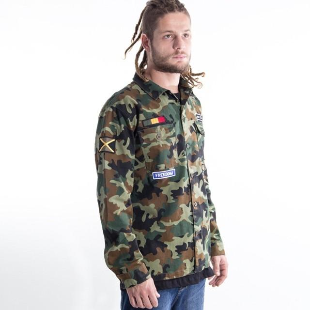 Pra garantir o estilo, camisa camuflada Roots Culture. #qix #roots #rootsculture #camuflado Camisa Rasta Tribe - LOJAQIX.COM.BR