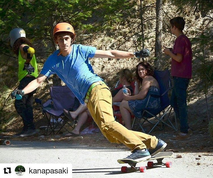 Subtle eyebrow raise from @kanapasaki at the @giantsheadfreeride a few days ago. #summerland #heatstroke  Shout out to @flatspotshop and @shithawksdh
