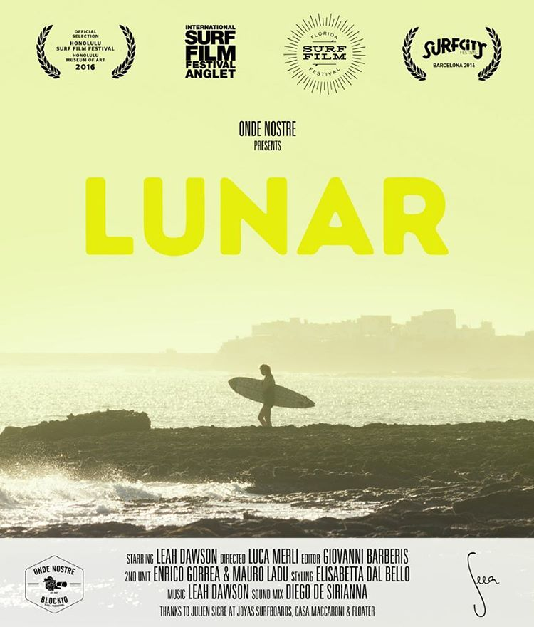 Really, the best way to way to watch a surf film is in an auditorium or field with all your friends hooting and cheering. LUNAR starring @leahloves by @ondenostre is coming to a Surf Film Festival near you! Playing next Saturday at Honolulu Surf Film...