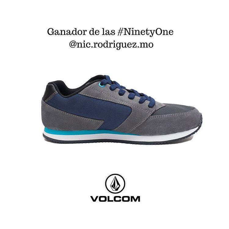 El ganador de el par de #ninetyone #volcomfootwear es @nic.rodriguez.mo