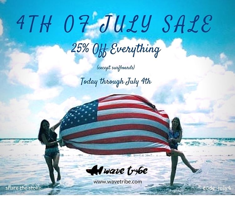 25% OFF Everything Sale (Coupon Code: JULY4)