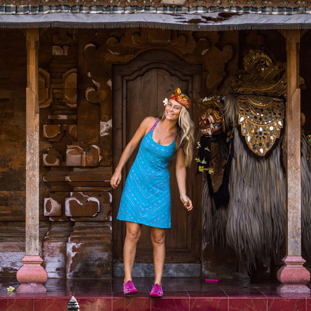 Missing Bali, where mighty monsters like the Barong are chillin on the front porch to welcome you while they dispel evil spirits from the village! @keen #alisonsadventures #Bali #Indonesia
