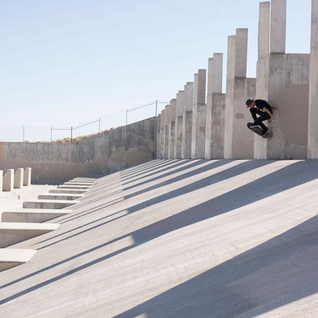 Sessão nos picos de Las Vegas com Samuel Jimmy. #qix #qixteam #skateboardminhavida