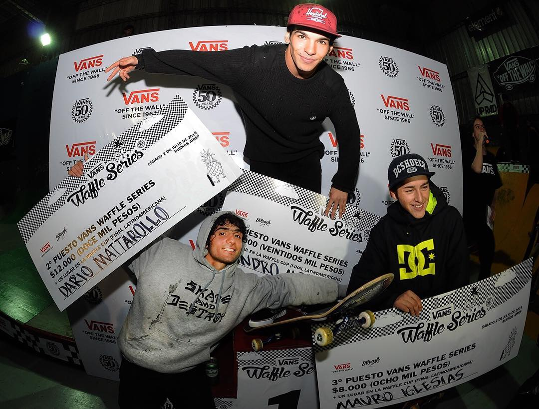 Felicitaciones para el Chinito, Daro y Mauro que el 6/8 competirán en la gran final del #VansWaffleCup. Una demencia lo de hoy