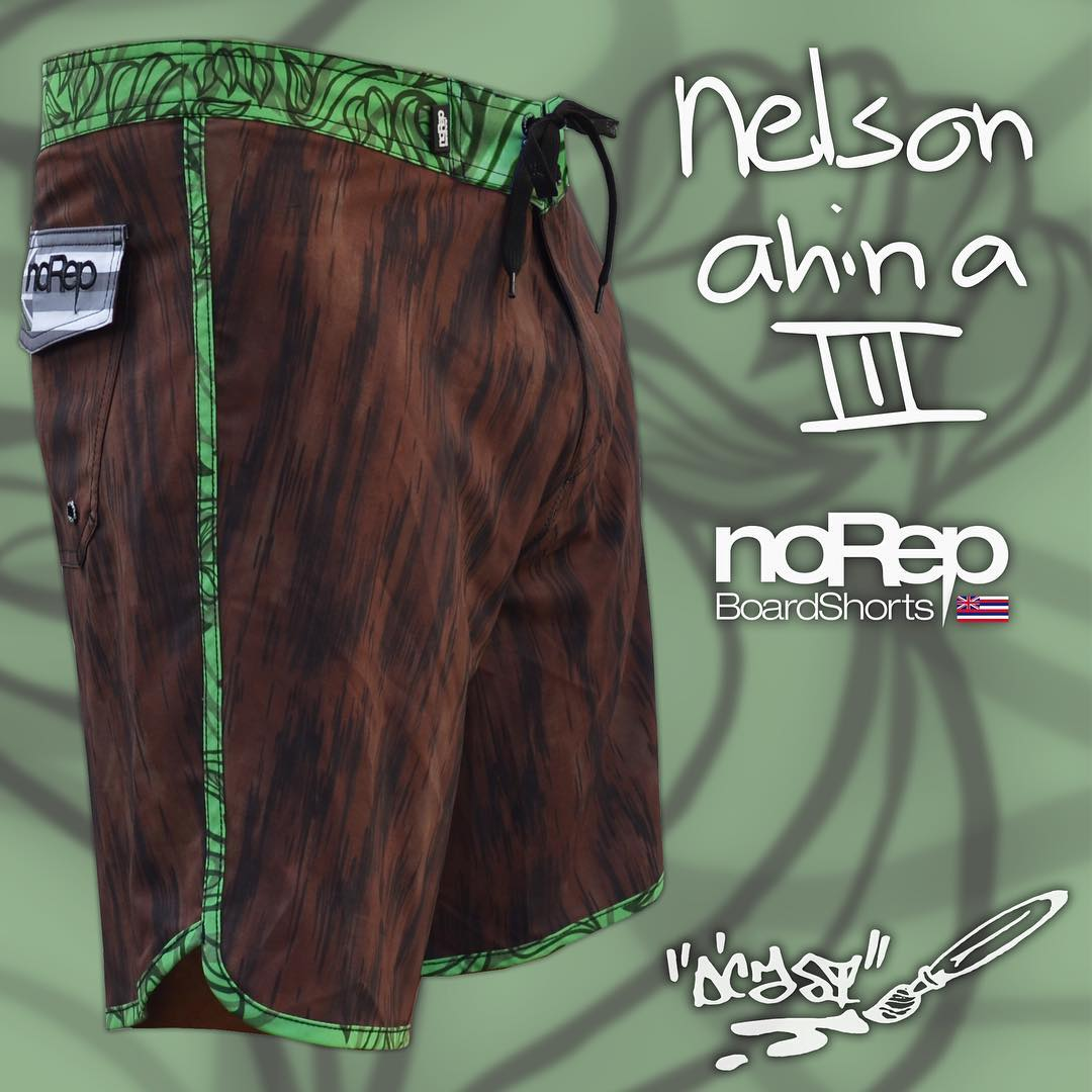 Now available at norepboardshorts.com! Inspired by the aloha spirit of our team rider @nelsonahina_3rd and designed by @dcasted, these boardshorts embody the strength of the historic Koa Tree into a modern design. Get yours today!
