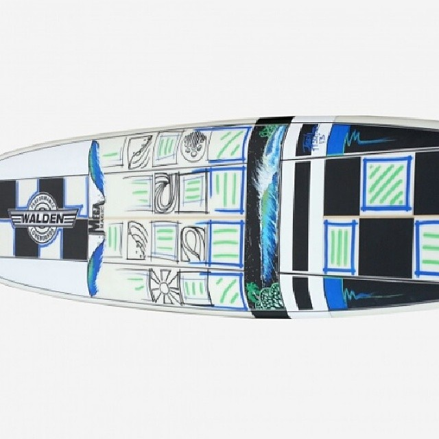 Check out this (repaired) 8' Mega Magic kindly donated by @gsi_surf  and painted by @toddfischersurfart (thank you!) open for bids starting at ridiculously low $400 to benefit #surfnonprofit! http://paddle8.com/auctions/wavesfordevelopment #pnwartists...