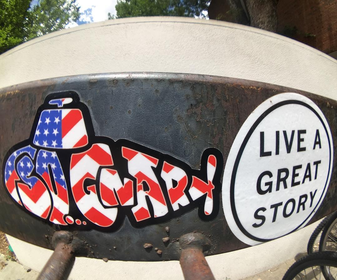 Live A Great Story like the sticker says, it's that simple!! ✨⚡️✨ #sognar #createordie #stickerslaps #buildlocallyspreadglobally