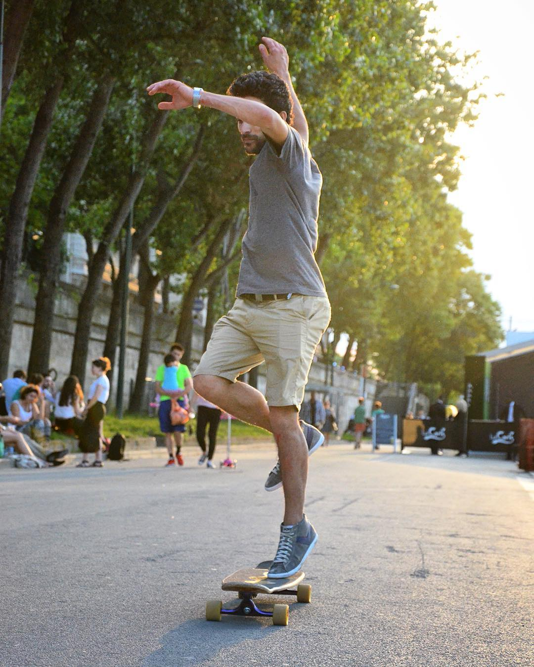 Light hearted and light footed, @lotfiwoodwalker let's his style flow during the evening light.  #paristrucks