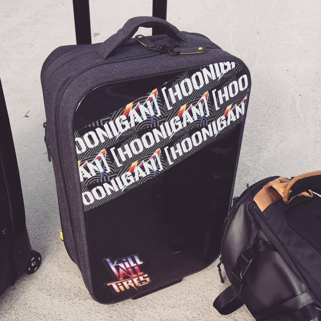 Travel day back to the USA today - just in time for blowing stuff up in the name of our country's independence! I'm happy to have that independence, along with my Incase travel gear. Especially this roller bag that carries my spare race suit, driving...
