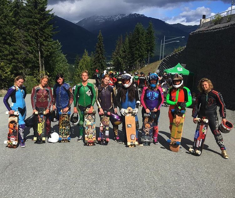 The ladies of @idfracing's @whistlerlbfest!  Women's Podium: 1. @emilylongboards  2. @palaxa  3. @kbeaaat  4. @candybombing  5. @notmyjob  Congrats ladies!
