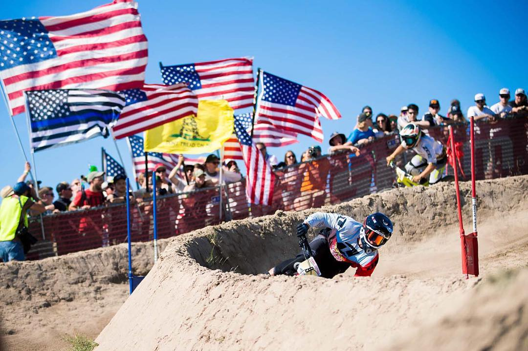 Happy 4th of July to all our US Fans, Athletes & Staff! Our buddy @kylestrait channelling the 'Merica vibes back at the Sea Otter Dual Slalom! #SixSixOne #661Protection #ProtectFun Photo - Suspended Productions