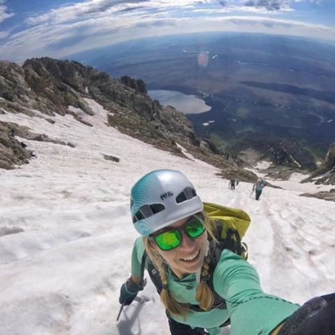 A7 artist and adventurer @kyehalpin celebrates independence by getting after it on Teewinot with @bree.buckley and @roundtheworldgirl. Happy Independence Day! #Merica #avalon7 #liveactivated #mountaineering www.wearealladventurers.com