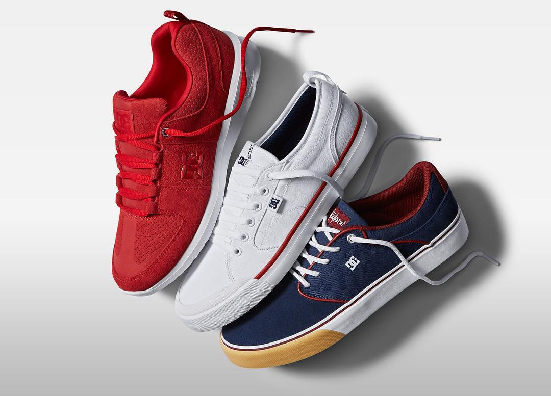 Celebrate today in Red, White, and Blue. #DCshoes