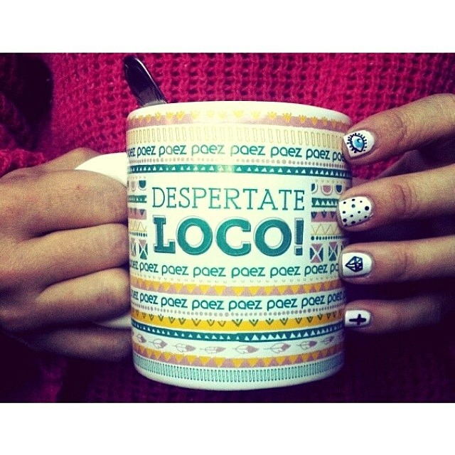 Kindness is like coffee, it awakens your spirit and improves your day. Fill your cup with both. Regram: @rochilamastra #Paez #ManicureMonday #PaezShoes #manicure #MorningCoffee #Loco