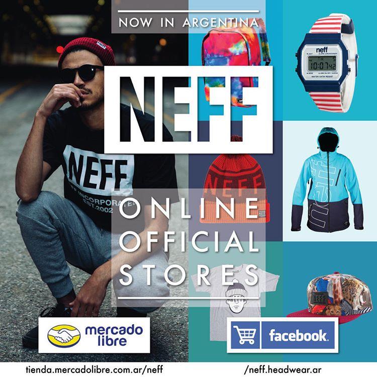Ya podés conseguir productos Neff en nuestra Tienda de Mercado Libre o Store de la fan page oficial.  ML: http://tienda.mercadolibre.com.ar/neff  Store Fan Page: https://goo.gl/cIg00I  Comprá productos oficiales y con garantía! #ForeverFun #Neff