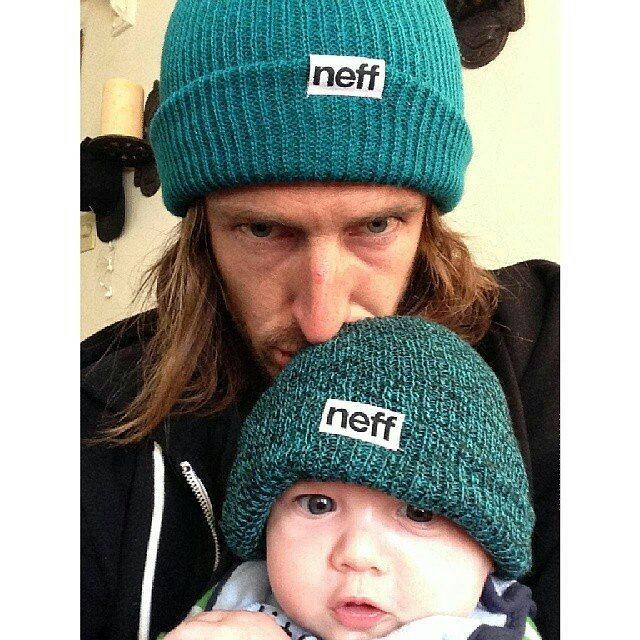Like father like son. #NeffSkate Team rider @matt_bennett__ hanging with his baby boy. #Neff #neffheadwear #neffargentina