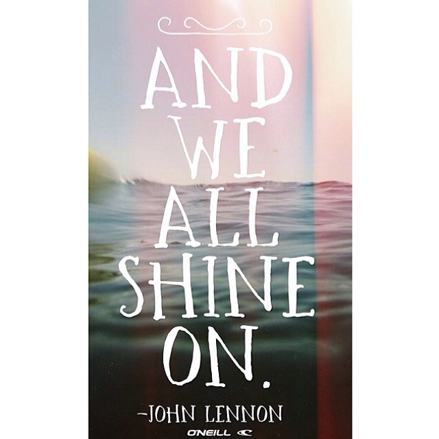 #Monday pinspiration! Stealing a little #inspo from our friends at @oneillwomens this morning! #shineon #johnlennon