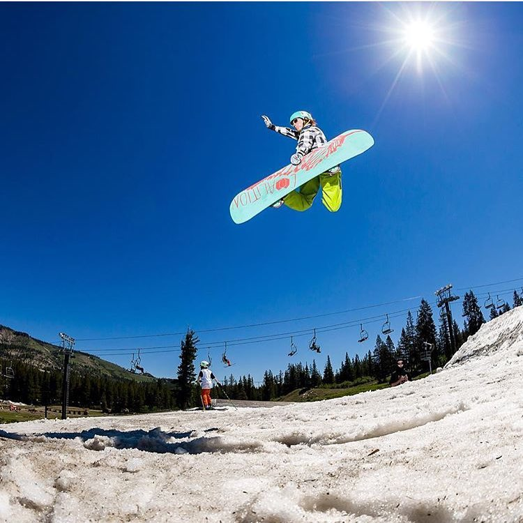 Happy 4th of July! Ambassador @hanaleilujah is still enjoying some of that good fun up at @borealmtn @woodwardtahoe despite high temps.  We hope you all have a wonderful, safe, and fun holiday!