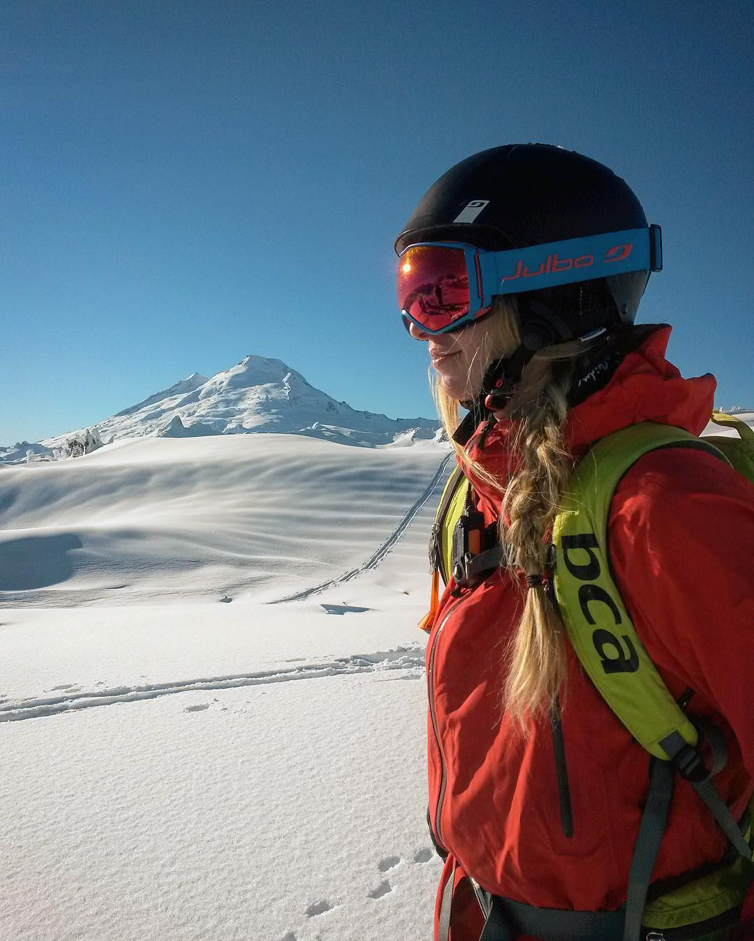 Tess Golling feels the magical outcome of the ever-tasty equation: powder+bluebird=raw bliss.