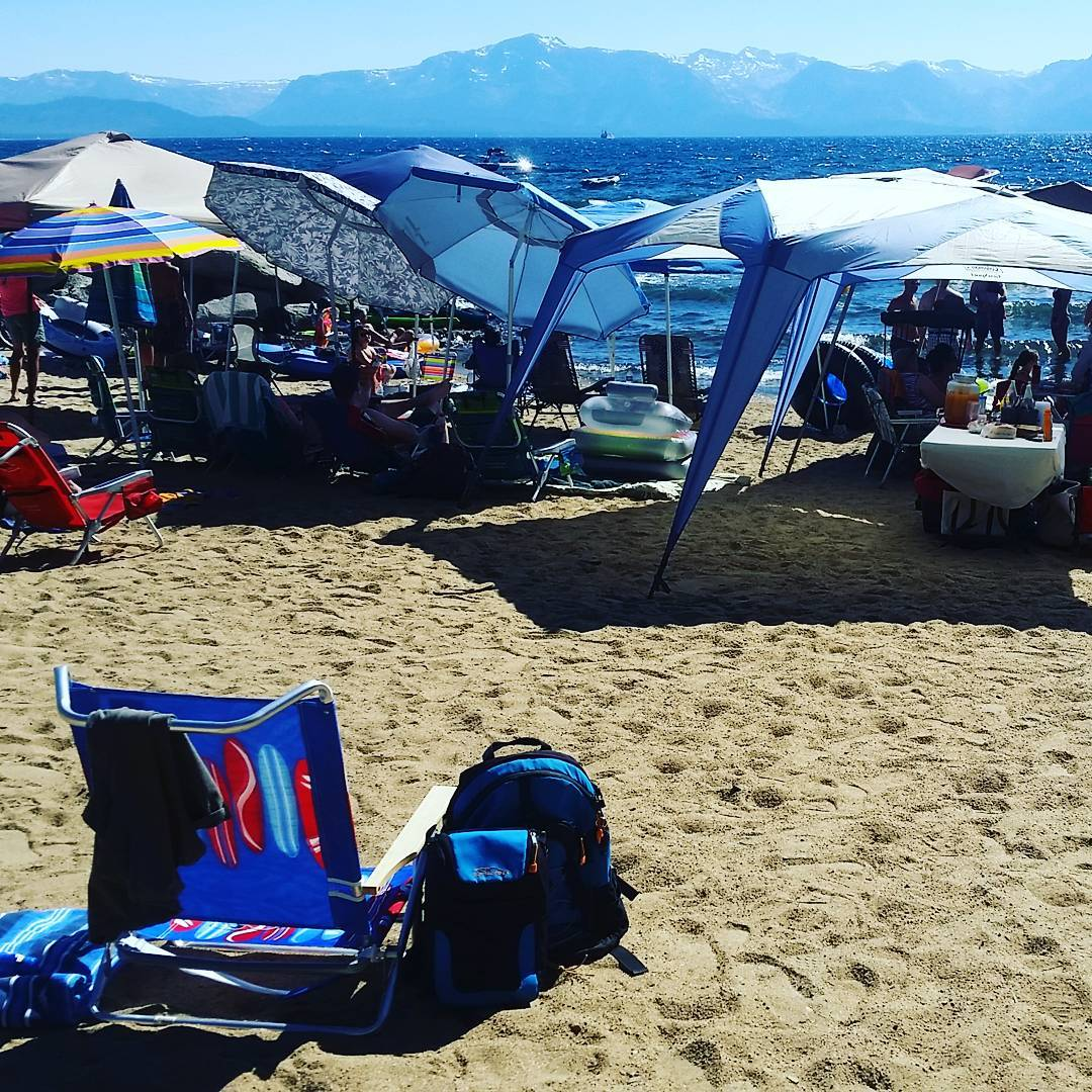 Happy 4th of July from all of us at Granite Rocx! #getoutside #laketahoe #xplorewild #beach #backpacks #coolers #graniterocx #outdoorsrocx