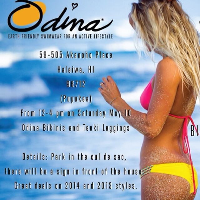 #Hawaii #Bikini #Party on May 10th contact @flipachip filippa@odinasurf.com for more details! Great deals on suits and @teekigram #leggings #summeriscoming #oahu #northshore