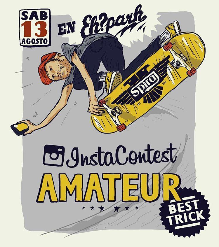 Cambio de fecha. #InstaContestAmateur Round 2  El sábado 13 de Agosto se viene la segunda fecha del circuito Insta Contest Amateur en el @ehparkparadise_skatepark