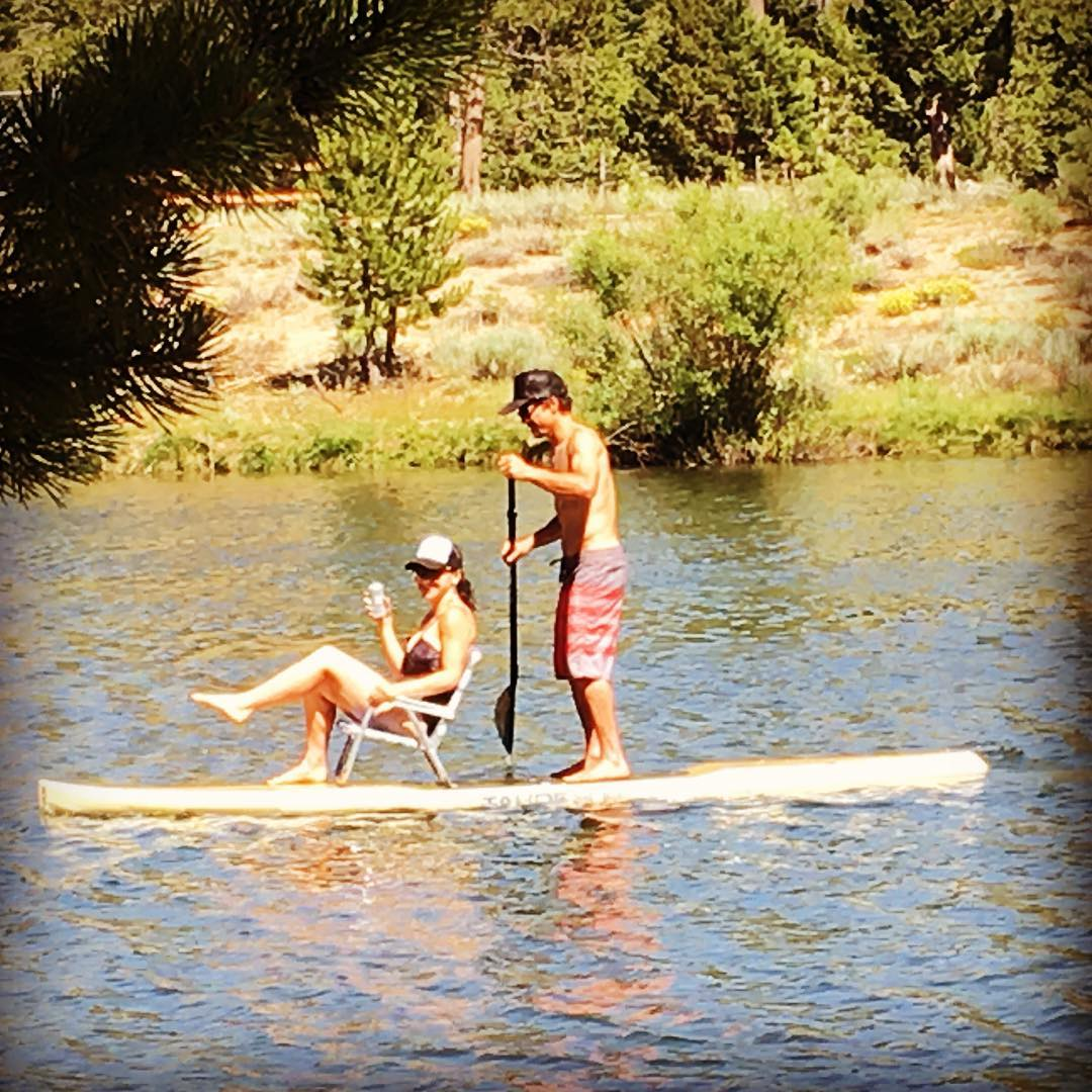4th of July shenanigans with @joshdaiek ! Pretty plush ride hanging at our local lake instead of dealing with the crowds this year at Lake Tahoe. #Barron @tahoesup #tahoesup