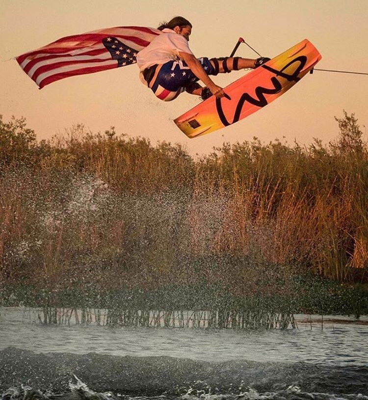 Wake team rider @joshtwelker went all out for July 4th
