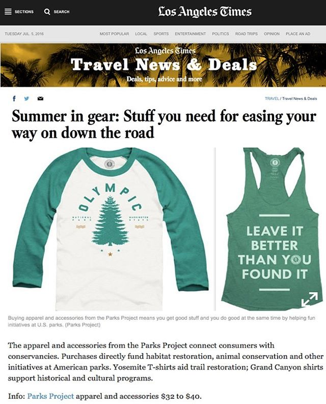 ~ LIL LA TIMES LOVE ~ thanks to @latimes for validating how our threads can ease the ride! #radparks #madeinusa #parksprojectinthenews #nps100 #allsummer16