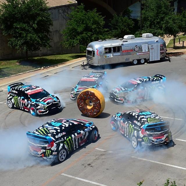 Austin donuts with Mr. @kblock43! #XGamesAustin Photo: @phil_ellsworth @espn_images