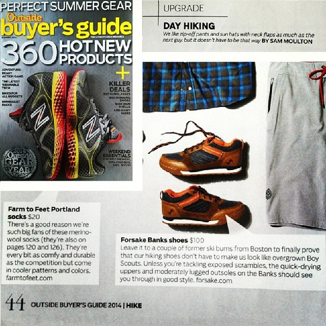 Check out the Banks featured in the @outsidemagazine summer buyer's guide! #adventureworthy