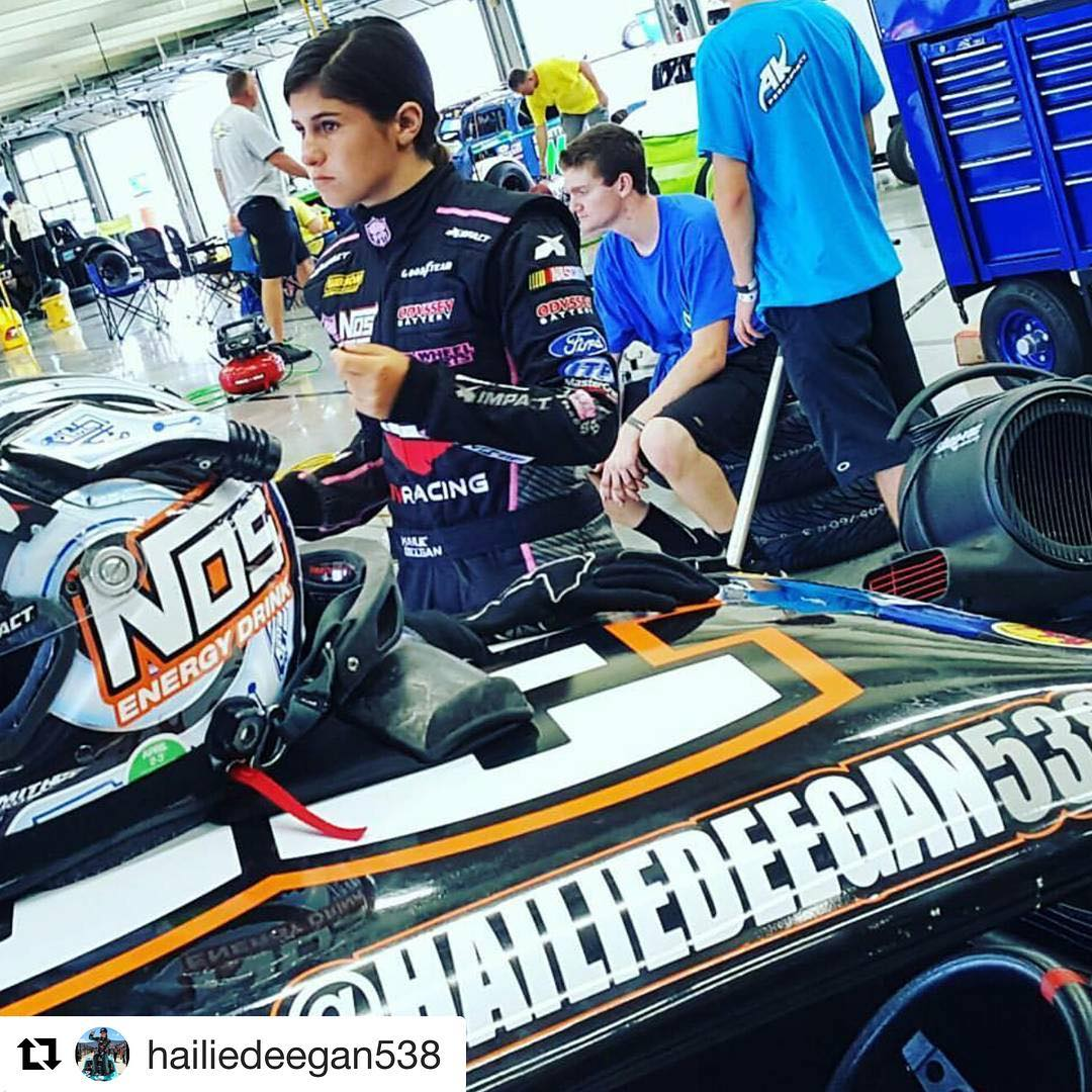 I think we got a #nascar #driver in the #deegan38 #family @hailiedeegan538