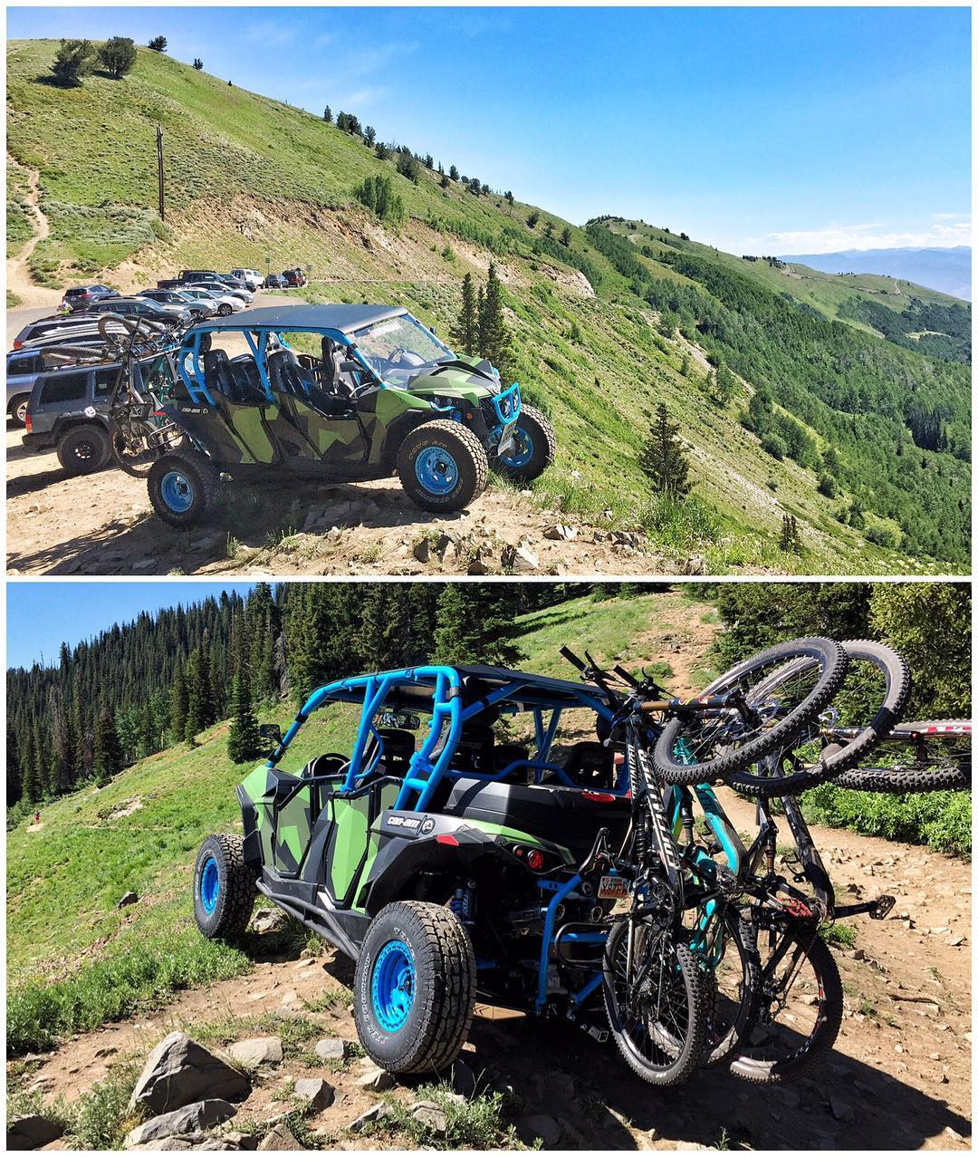 I designed this four seater @CanAmOfficial Maverick X for exactly this: a street-legal fun machine for shuttling mountain bikes up to one of the hundreds of awesome trails here in my hometown of #ParkCity. Today was our first shuttle run with this...
