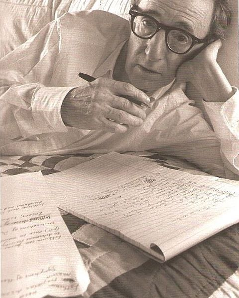 "#Throwback of a writer writing. You may recognize him. He once said: ""If you're not failing every now and again, it's a sign you're not doing anything very innovative."" We tend to agree. Thanks for the reminder, Woody."