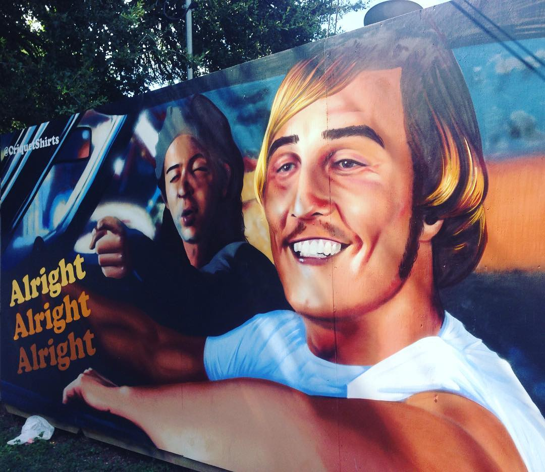 @mezdata • • #alrighalrightalright #mural #art #spraypaint #austintx #mezdata #spratx