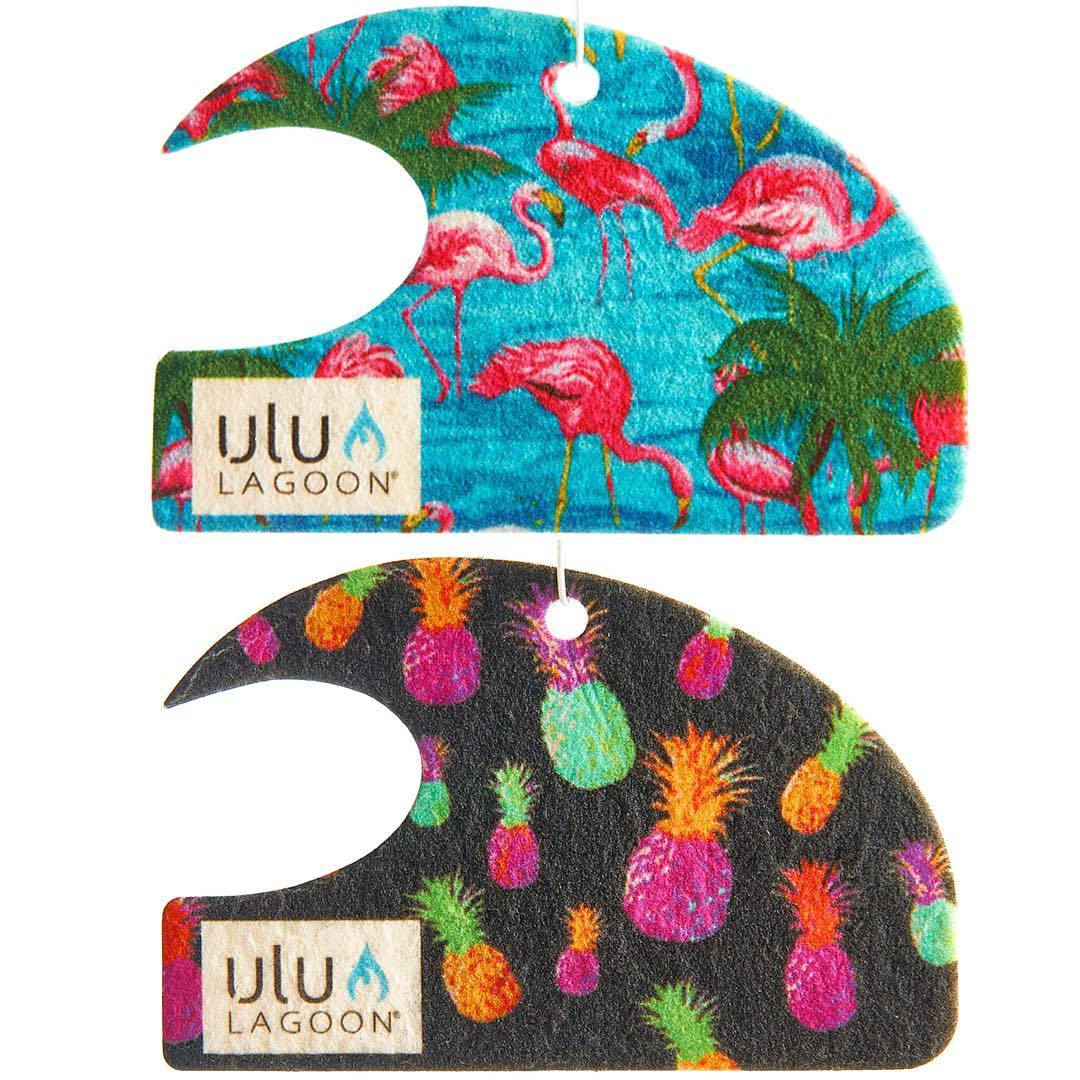 "Nothing says ""summer is here"" like some Flamingos and Electric Pineapples! Live your summer in style with surf wax scented mini waves from the originators in summer cool. This is ulu LAGOON."