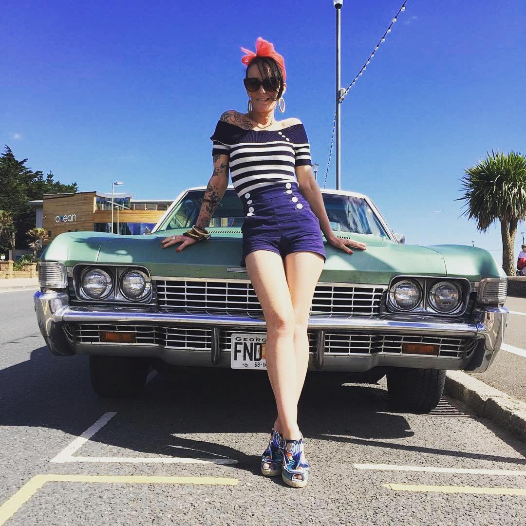 @missbettybones and a mean Chevy Impala heat things up! - #VonZipper #SupportWildLife