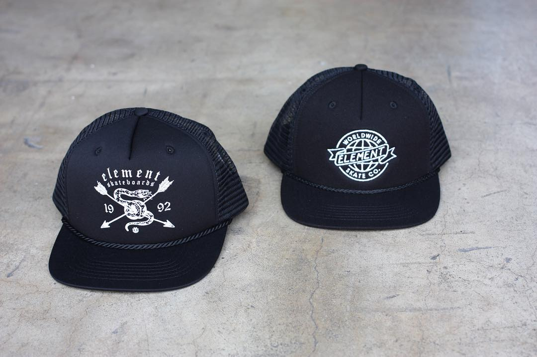 New hats are in, just in time for summer! >>> Shop new truckers, five panels, snapbacks, and more hats now online at ElementBrand.com!