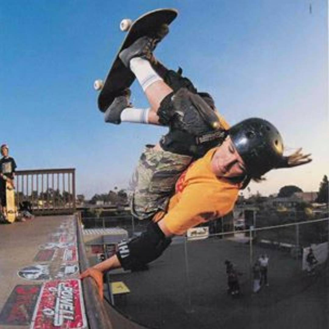"Thowback to ""2004(ish)"" with @mimiknoop in @thrashermag ! Photo by @burnout"