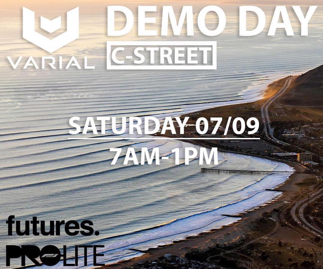 @varial_surf is hosting a demo day this Saturday @ C St Ventura. Come on down and ride some space ship foam!!!