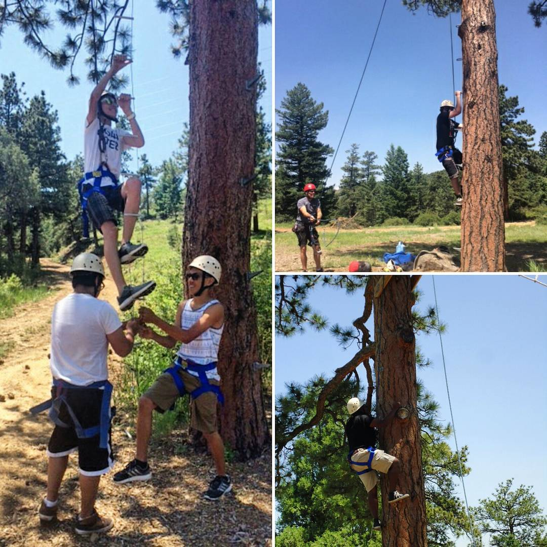 "#TBT to #Denver's rope course program last month. One of our participants was not the fondest of these activities, but ended up quoting MLK saying, ""If you can't fly then run, if you can't run then walk, if you can't walk then crawl, but whatever you..."