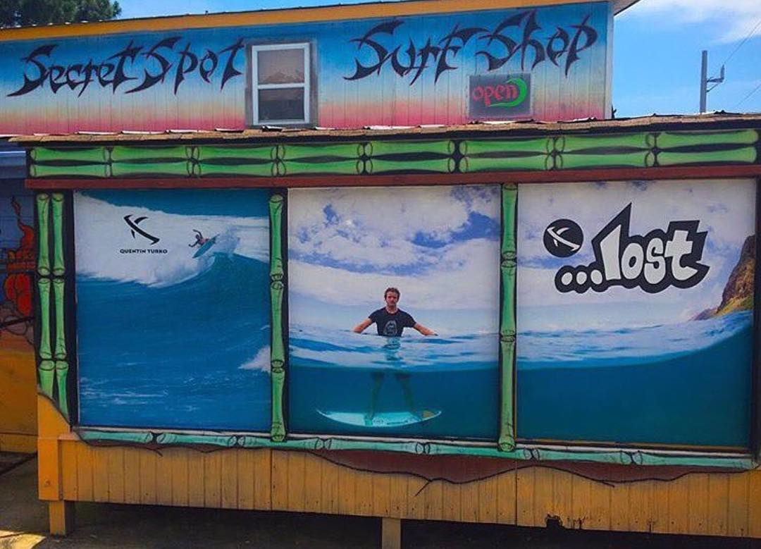 @quentin_turko blown up at @secretspot surf shop