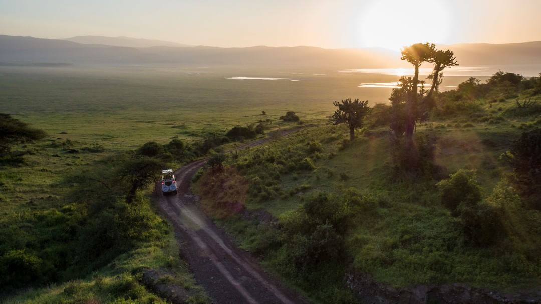When going on a safari through Tanzania's Ngorongoro Crater make sure you have an #Inspire following closely behind #GardenofEden