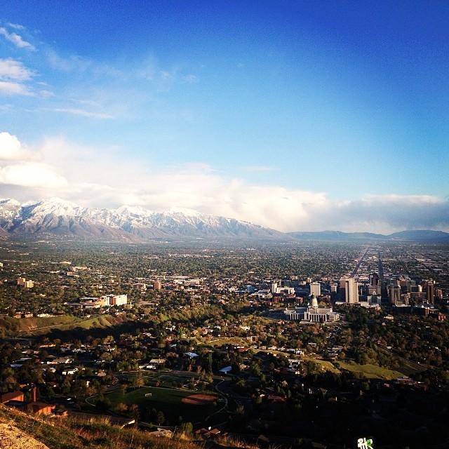 Ensign Peak, Salt Lake City, Utah.