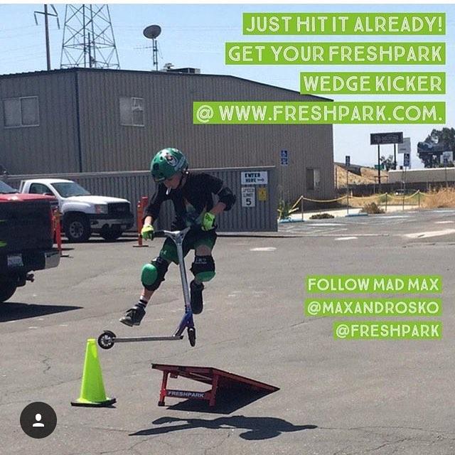 #Repost @maxandrosko Having so much fun with Freshpark Wedge Kicker!